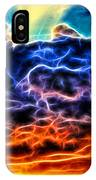 Funky Glowing Electrified Rainbow Clouds Abstract IPhone Case