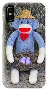 Funky Monkey - Purple Peeps IPhone Case