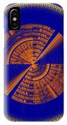 Futuristic Tech Disc Blue And Orange Fractal Flame IPhone Case