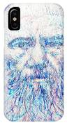 Fyodor Dostoyevsky / Colored Pens Portrait IPhone Case