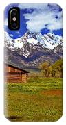 Gable Roof Barn Panorama IPhone Case