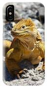 Galapagos Iguana On The Move IPhone Case
