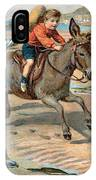 Galloping Donkey At The Beach IPhone Case