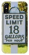 Gallops Per Hour IPhone Case