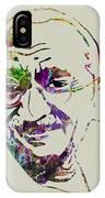 Gandhi Watercolor IPhone Case