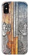 Ganesh Door Plating At The Yoga Maya Hindu Temple In New Delhi India IPhone Case