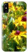 Garden Flowers In Yellow IPhone Case
