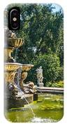 Garden Fountain - Iconic Fountain At The Huntington Library And Botanical Ga IPhone Case