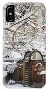 Garden Gate In Winter IPhone Case