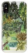 Garden In Llandielo, 1999 Watercolour On Paper IPhone Case