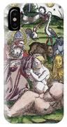 Garden Of Eden Historiae Animalium IPhone Case