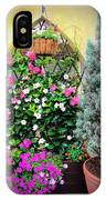 Garden Screen With Flowers IPhone Case
