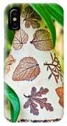 Garden Leaf Pattern Windchime IPhone Case