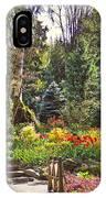 Garden With A Bridge IPhone Case
