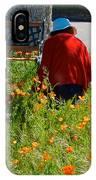 Gardening Distractions In Park Sierra-california IPhone Case