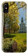 Gardens Of The First Parish IPhone Case