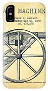 Garland Machine Gun Patent Drawing From 1892 - Vintage IPhone Case