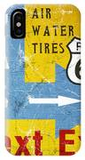 Gas Next Exit- Route 66 IPhone Case