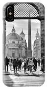 Gate To Piazza Del Popolo In Rome IPhone Case