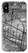 Gated Community In Black And White IPhone Case