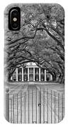 Gateway To The Old South Monochrome IPhone Case