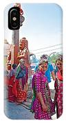 Gathering At Hindu Festival Of Ram Nawami In Kathmandu-nepal IPhone Case