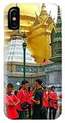 Gathering Near Pagodas Of Grand Palace Of Thailand In Bangkok IPhone Case