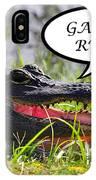 Gators Rule Greeting Card IPhone Case