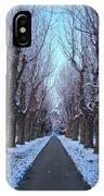 Gauntlet Of Trees To Hohenheim Castle IPhone Case