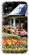 Gazebo And Tulips At Shore Acres IPhone Case