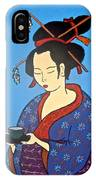 Geisha With Cup IPhone Case