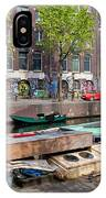 Geldersekade Canal In Amsterdam IPhone Case
