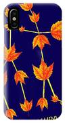Gemini Constellation Composed By Maple Leaves IPhone Case