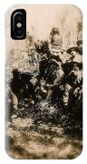 General George R. Crook Negotiating With Geronimo  1886-2008 IPhone Case