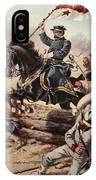 General Sheridan At The Battle Of Five IPhone Case