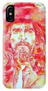 George Harrison With Hat IPhone Case