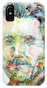 George Orwell Watercolor Portrait IPhone Case