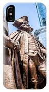 George Washington-robert Morris-hyam Salomon Memorial Statue IPhone Case