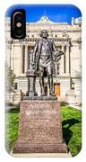George Washington Statue Indianapolis Indiana Statehouse IPhone Case
