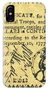 Georgia Banknote, 1777 IPhone Case