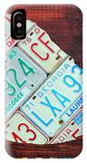 Georgia The Peach State License Plate Map On Fruitwood IPhone Case