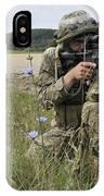 Georgian Army Sergeant Aims An M4 IPhone Case