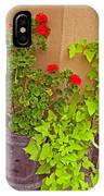 Geraniums And Ivy IPhone Case