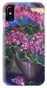 Geraniums Blooming IPhone Case