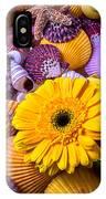 Gerbera With Seashells IPhone Case