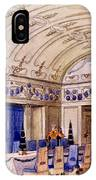 German Dining Hall, Early 20th Century IPhone Case