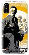 German Political Poster Shows A Soldier Standing In Front Of A Woman And Her Children IPhone Case