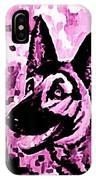 German Shepard In Purples IPhone Case