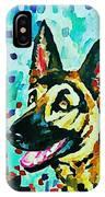 German Shepard Watercolor IPhone Case