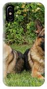 German Shepherds - Mother And Son IPhone Case